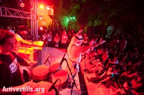 Freedom Bus finale concert, Beit Sahour, West Bank, 10.1.2012